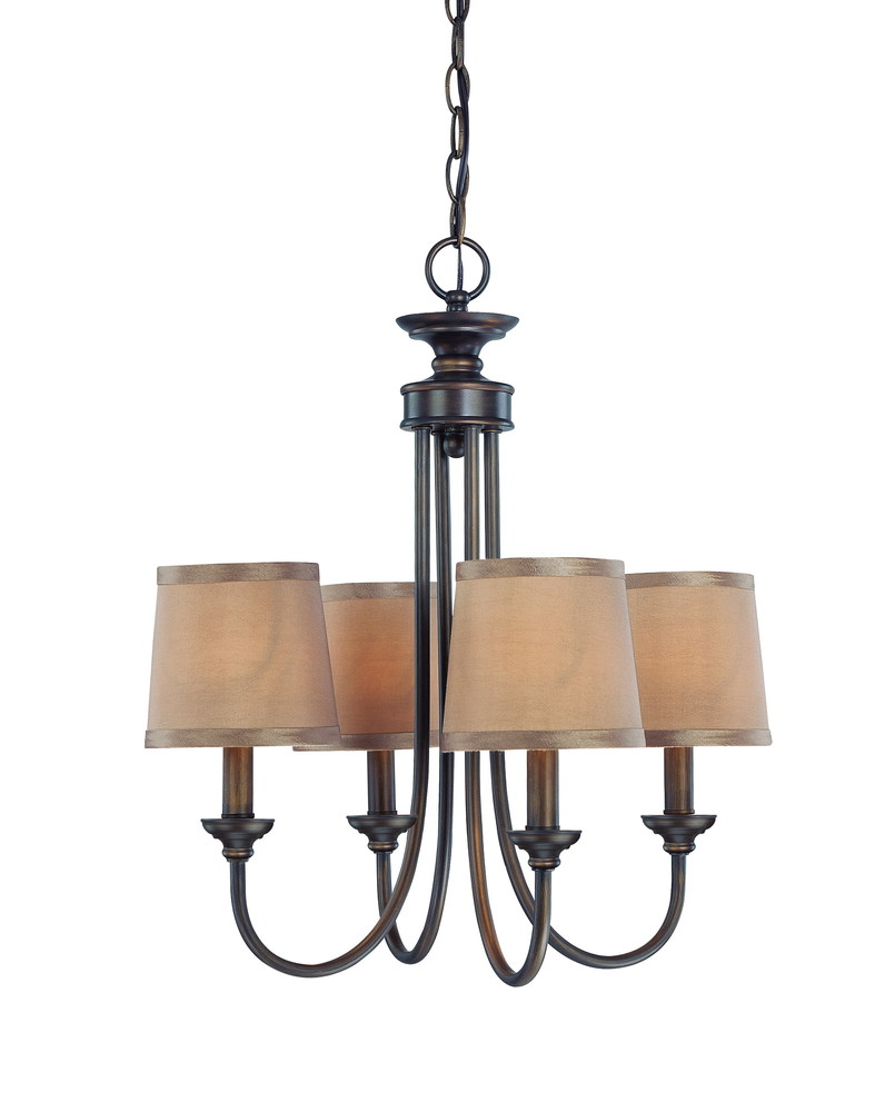 spencer 4 light chandelier in bronze 48ak foresight lighting